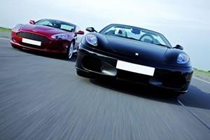Ferrari And Aston Martin Driving Blast For One