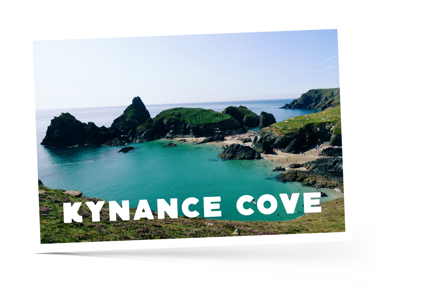 Overlooking Kynance Cove in Cornwall